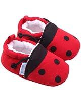 Ularmo Schuhe für 0-12 Monate Baby, Marienkäfer Weiche Sohle Kleinkind-Schuhe (11)