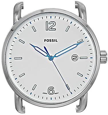Fossil The Commuter - Caja de Reloj de Acero Inoxidable con Tres manecillas