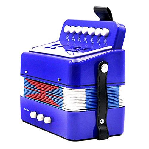 MagiDeal Kinder Akkordeon Ziehharmonika Musikinstrument Spielzeug (ab 3 Jahre) - Blau