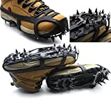 Inovey 18 Dents Anti-Dérapant Glace Neige Chaussure Crampons Alpinisme Randonnée Crampons -M