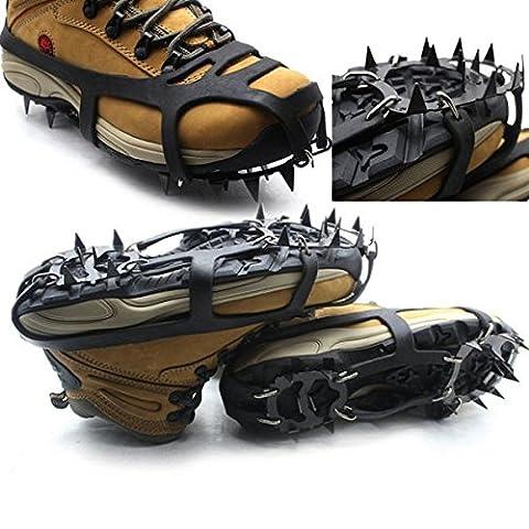 Inovey 18 Dents Anti-Dérapant Glace Neige Chaussure Crampons Alpinisme Randonnée