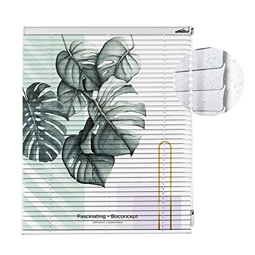 Jalousien 100 cm / 120 cm / 130 cm Breite Weiße Mini wasserdicht gemusterter Aluminium-Lichtfilterung für Wohnzimmer/Küche, ohne Bohren (größe : 100x200cm(39