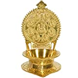 Exotic India Ashtalakshmi Ganesha Lamp - Brass Statue