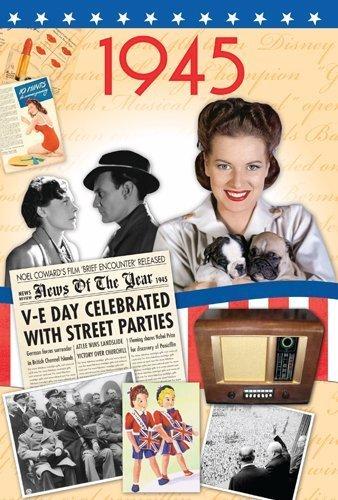 Preisvergleich Produktbild 1945 DVD Gift Card - 65th Geburtstagskarte in 2010