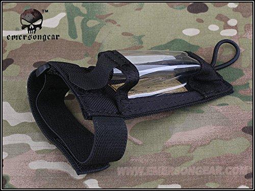 Taktischer EMERSON Airsoft Klettverschluss-Armband GPS Beutel für Jagd-Kriegsspiel-Armee WorldShopping4U Schwarz