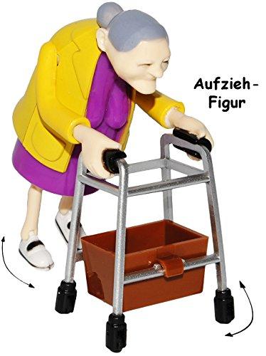 alles-meine.de GmbH 1 Stück _ Aufziehfigur -  lustige OMA / Rentnerin / Großmutter  - Aufzieh Figur zum Laufen & Wettrennen - lustig witzig - Geldgeschenk - Uroma - Geburtstag ..