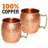 Moscow-mule Hammered-copper 510,3 gram Drinking-mug Set-of-2