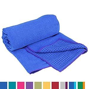 Yogatuch GRIP2, mit Noppen, rutschfest, Yogamattenauflage, Yoga Grip Towel, Yogatuch mit Antirutsch-Noppen, sehr gut für Hot Yoga