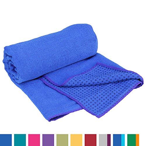 Yogatuch GRIP2, mit Noppen, rutschfest, Yogamattenauflage, Yoga Grip Towel, Yogatuch mit Antirutsch-Noppen, sehr gut für…