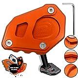 1050 1090 1290 Adventure 1190 Motorrad CNC Aluminium Seitenständer Vergrößern Seitenständer Platte für KTM 1050 1090 1190 1290 Adventure/1290 Super Adventure R (Orange+Orange)