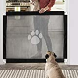 Namsan Pet Gate Dog Magic Gate Easy to Install & Lockable Safe Guard for Dogs 80cm x 100cm (Black)