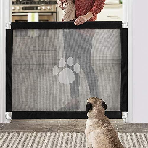 Namsan Hunde Türschutzgitter Abschließbar Hundeschutzgitter Treppenschutzgitter Absperrgitter für Haustier, 80cm x 100cm