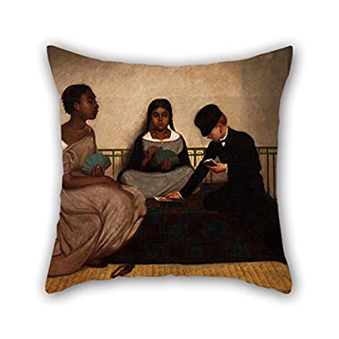 Slimmingpiggy Oil Painting Francisco Laso - The Three Races Or Equality Before The Law Pillow Cases 16 X 16 Inches / 40 By 40 Cm For Family Girls Lounge Drawing Room Outdoor Kids With Twin Sides