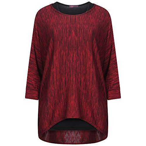 Get The Trend -  Maglia a manica lunga  - Basic - Donna Red 2 in 1 (GJ3)