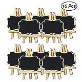 SUPVOX Mini Decorative Chalkboard Black Message Signs for Wedding Party Decor 10pcs