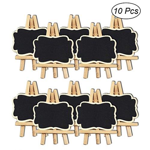 ROSENICE Mini Tafel mit Staffelei Tischkarte Namensschilder Tafel für Message Hochzeit Party Tischdeko 10 Stücke