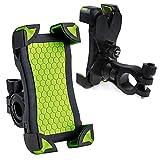 Regenbogen-OUKITEL Fahrrad Telefonhalterung für Smartphones Kompatibel mit Straßen & Mountain-Bikes und Motorräder & Scooter für 4.5 Zoll bis 7 Zoll Display (Grün)