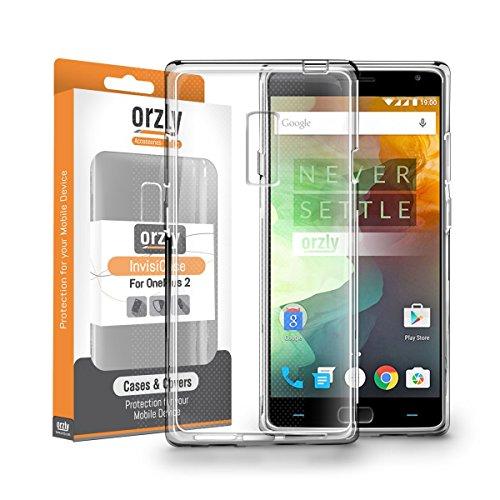 OnePlus 2 Hülle, Orzly® - FlexiCase für OnePlus 2 SmartPhone / Handy ( 2015 Modell / Dual SIM Version ) - Flexible Silikon-Gel-Telefon-Kasten Schutz in 100% TRANSPARENT