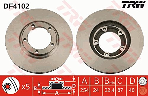 Preisvergleich Produktbild Bremsscheibe - TRW DF4102