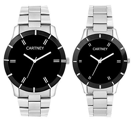 CARTNEY Analogue Black Dial Men and Women Watch (Couple Watch)- CTYPR-BK1