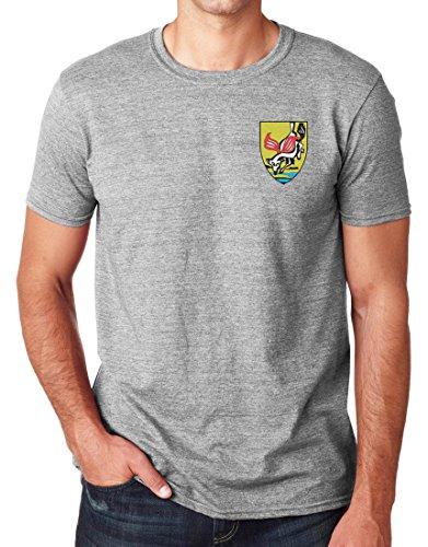 Isreali Forze Speciali sayeret IDF Logo ricamato–Ringspun cotone t shirt da militare online Sports Grey