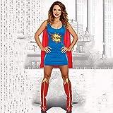 GAOJUAN Disfraz De Halloween Disfraz De Traje De Superwoman para Adulto Cosplay