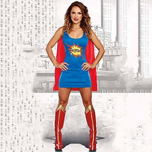 GAOJUAN 2018 Halloween Cosplay Kostüm Erwachsene Cosplay Superwoman Kostüm Spiel Anzug Movie Hero Charakter Bühne Kostüm Geeignet Für Karneval Thema Parteien ()