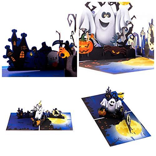 Fairylove 3D Grußkarten Pop-up Halloween Geist Fledermaus Festival Saisonal Grußkarten Mehrzweckkarte Handgemachte Einladungen