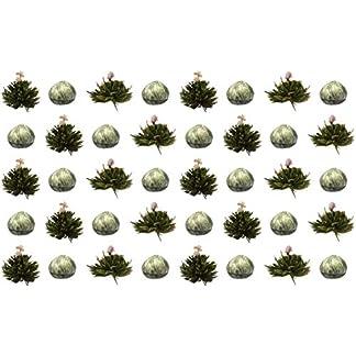 40-Stck-Sonderangebot-BLOOMINI-weier-Tee-Teeblumen-2-Sorten-TeerosenTeebltenblooming-teaErblhteeAufblhtee-aus-hochwertigem-Weitee-mit-natrlichen-eingearbeiteten-Blten-by-Feelino