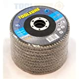 "Trade Quality 115mm - 4 1/2"" inch 40 Grit Sanding Flap Disc (12 pack) AB010"