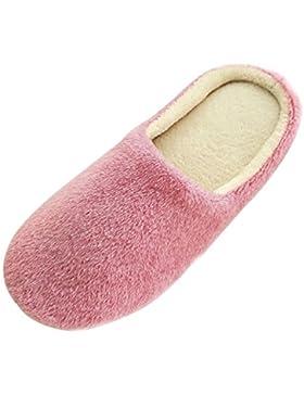 [Sponsorizzato]SAGUARO® Unisex Pantofole Autunno Inverno Home Caldo Cotone Scarpe Peluche Morbido Casa Pattini per Donna Uomini