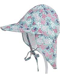 8f8025fc1c14 Boomly Bébé Enfant Chapeau de Soleil Coton UV50 + Protection Été Pêche  Chapeaux de Plage Pliable