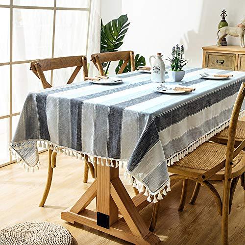 QWEASDZX Tischdecke Einfache und moderne wasserdichte quadratische Regenmantel-Tischdecke Wiederverwendbare rechteckige Tischdecke Geeignet für Innen- und Außentischdecke Mehrzwecktischdecke 120x180cm -