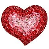 Liusdh Unechte Blumen,Herz Duft Bad Körper Blütenblatt Rose Blume Seife Hochzeitsdekoration...