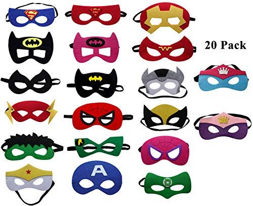 UCLEVER Kinder Superhelden Halloween Kostüm Masken Augen Kindergeburstagen -