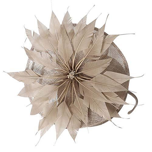 namay Fascinator-Hut Melbourne Cup Frau Gefieder Britische Modekappe Kentucky Derby Kirche Kleid Glockenhut Faszinator Blumen Tee Party Hochzeitshut ()