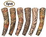 Mobengo 6 Stück unisex dünne Nylon Tattoo Ärmel Sleeve Temporäre Tätowierung anziehen - Mobengo