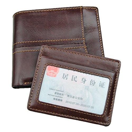 Genda 2Archer Vintage Leder Bi-Fold Geldbörse mit RFID-Schutz (Kaffee Cross) Kaffee Cross