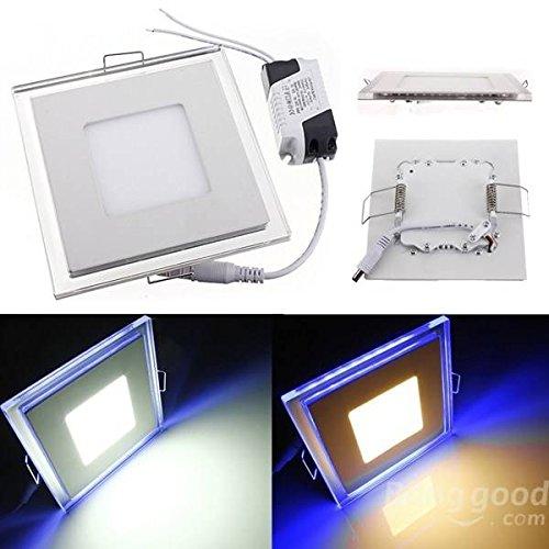 mark8shop 15W eckig, Acryl LED CREE Panel Down Einbauleuchte für den Innenbereich (Light Einbauleuchte Square)