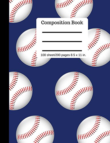 Composition Book |: Baseball |100 Pages 8.5