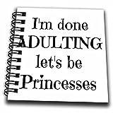 3drose im Done Adulting Permet d'être Princesses Mini bloc-notes, Multicolore, 4x 10,2cm