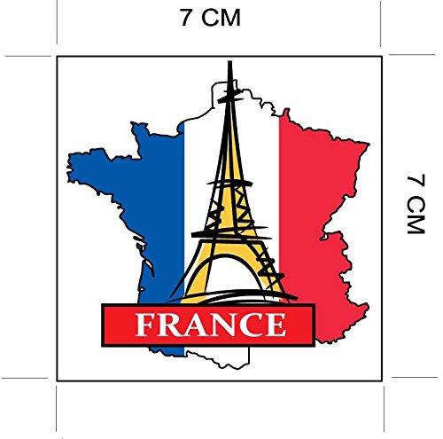 Mappa Francia Parigi bandiera nazionale e adesivo per la personalizzazione di oggetti come preferito valigie