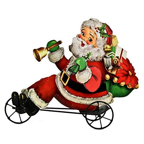 Bethany Lowe Santa Claus Trike Figur, Retro, Vintage-Stil, Weihnachtsdekoration -
