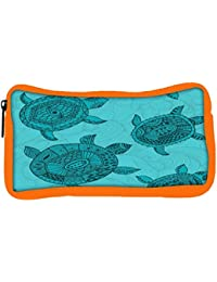 Snoogg Eco Friendly Canvas Seamless Pattern With Turtles Seamless Pattern Can Be Used For Wallpaper Student Pen...