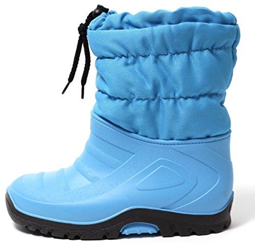 Zapato Kinder Stiefel Schneestiefel Snowboot Duck Boot Winterstiefel Gr.23-30 Warm Wasserdicht Gummi Galosche und Alu Isolierung Hellblau (23/24) (Herren-duck-stiefel)