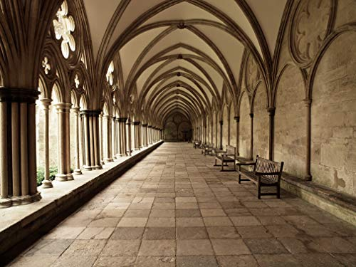 VLIES Fototapete-KLOSTER-250x186 cm-5 Bahnen-(16544)-Inkl. Kleister-EASYINSTALL PREMIUM-Kathedrale...
