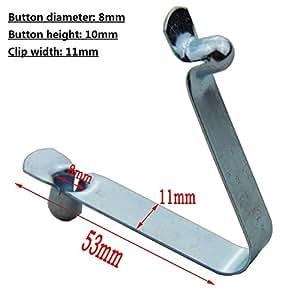50pcs pulsante doppio clip Pagaia per kayak clip a scatto a molla Tenda Pole clip