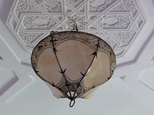 Orientalische Deckenlampe aus Henna/ Leder Marrakesch 1001 Nacht ø 40 cm
