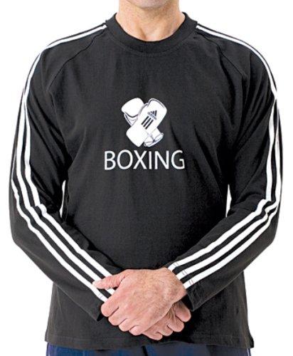 Adidas T-Shirt–lange Ärmel Boxen Medium  - schwarz (T-shirt Running Ärmel)