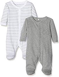 NAME IT Unisex Baby Schlafstrampler, 2er Pack